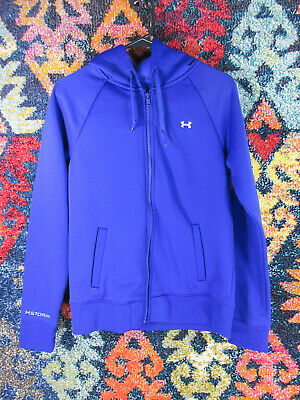 Under Armour girls solid purple lined Storm hoodie jacket L EUC