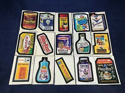 LOT OF 15 TOPPS WACKY PACKAGES in Very Good to Excellent Condition