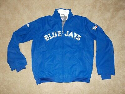 Majestic Authentic On Field Therma Base Toronto Blue Jays Full Zip Jacket Mens M