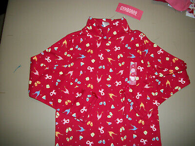 NWT Gymboree --Sugar N Spice--Red Hats & Mittens T-Neck Top~~Size--6