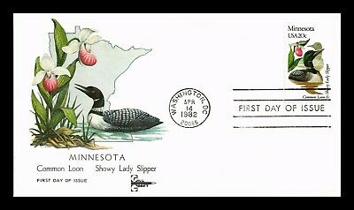 Dr Jim Stamps Us Minnesota State Bird Flower First Day Cover Gill Craft
