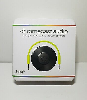 Chromecast Audio, Wifi media player - New - sealed