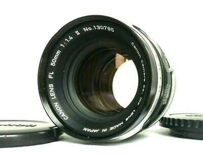 【EXC++++】 Canon FL 50mm f/1.4 Ⅱ FD Mount MF Standard Lens W/ Caps from Japan 437