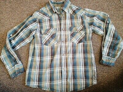 Boys Checked Shirt Aged 11-12 Years