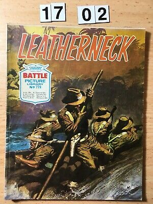 "Fleetway Battle Picture Library Comic # 779 From 1973. ""Leatherneck""  VG Cond"
