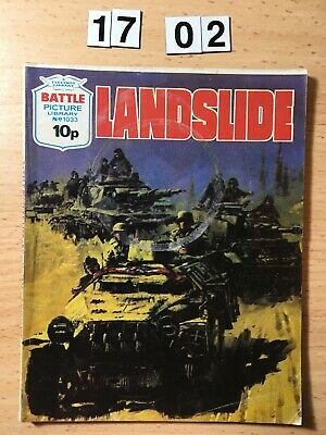 """Fleetway Battle Picture Library Comic # 1033 From 1976. """"Landslide""""  Good Cond"""
