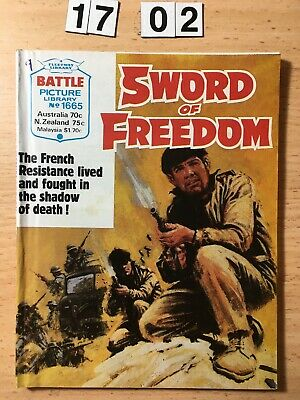 """Fleetway Battle Picture Library Comic # 1665 From 1984. """"Sword of Freedom""""  VG"""