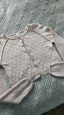 NEXT Blush Pink Cardigan Girls Cardi 10years