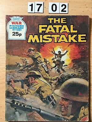 """Fleetway War Picture Library Comic # 1961 From 1982. """"The Fatal Mistake"""" VG"""