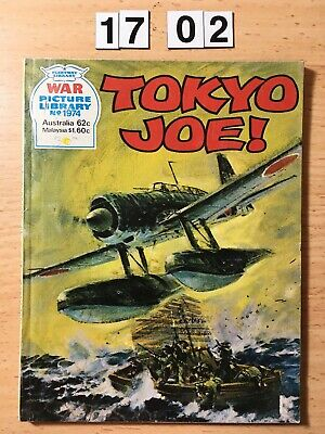 """Fleetway War Picture Library Comic # 1974 From 1983. """"Tokyo Joe!""""  VG Cond"""
