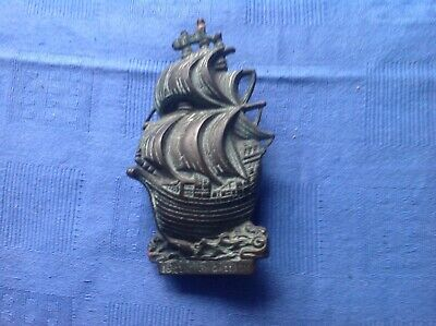 Vintage Brass Ship Galleon Door Knocker