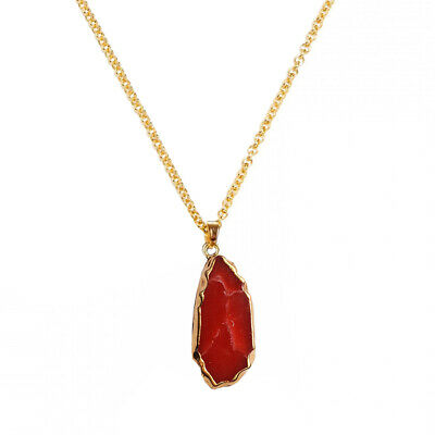 Natural Stone Natural Crystal Rock Chain Quartz Pendant Necklace Jewelry