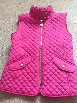 Girls Joules Gilet, Age 7, Pink quilted, Hardly worn, excellent condition