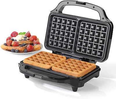 Salter EK2249 Deep Fill Waffle Maker with XL Non-Stick Cooking Plates, 900 W,
