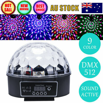 DMX512 RGB Disco Party DJ LED Stage Effect Light Lamp Laser Crystal Magic Ball