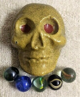 Skull, solid iron paperweight, handmade in a foundry 1.5lbs