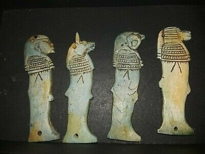 4 Egyptian Faiance Amulets/Statues
