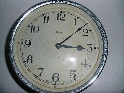 SMITHS Vintage Bakelite  / Chrome Clock vintage industrial wall clock
