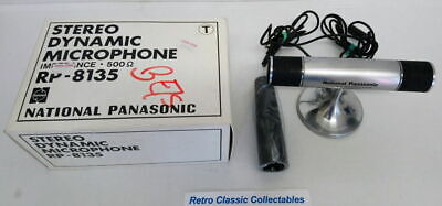 Vintage National Panasonic Stereo Dynamic Microphone - RP-8135