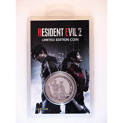 Resident Evil 2 Remake Limited Edition Coin Silver Edition only 9995. BRAND NEW