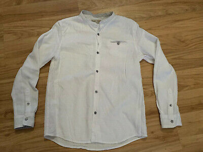 Boys White ZARA Cotton Top Shirt Age 11-12 Years