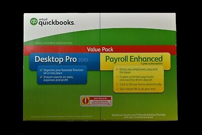 Intuit QuickBooks Desktop Pro 2019 with Enhanced Payroll Value Pack for Windows