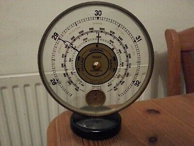 Antique Art Deco French Circular Barometer by Jaeger