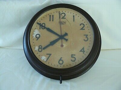 Smiths Sectric Bakelite Electric Office/Factory Wall Clock - Unrestored