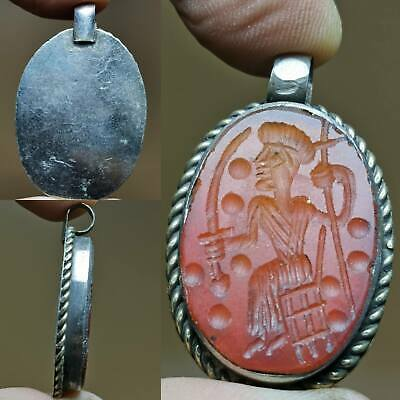 Beautiful Agate stone Old intaglio Seal lovely Pendant  # 133