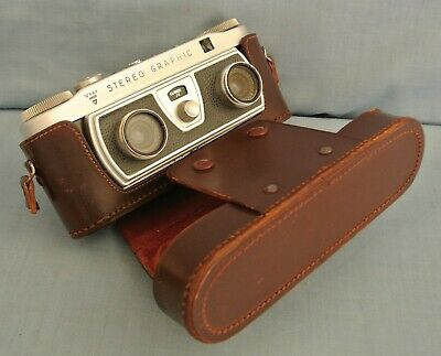 Vintage Wray (London) Stereo Graphic 3D 35Mm Camera With Case.