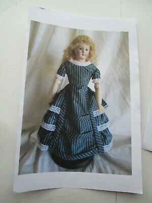 30+ Pages of Instructions! Jumeau French Fashion Doll Dress Pattern Barrois
