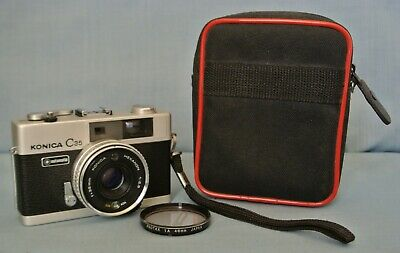 Collectible Compact Konica C35 Automatic Rangefinder In Full Working Condition