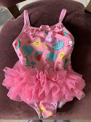 PEPPA PIG Matalan Baby girls bathers swimsuit swimming costume 12-18 months