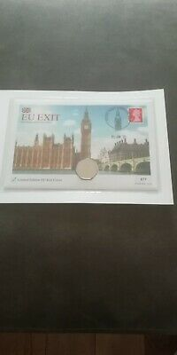 Brexit 50p Coin Stamp First Day Cover EU Exit 2020 Limited Edition #977