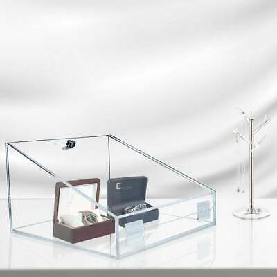 Clear Acrylic Counter Display Case/Tray - Lockable Hinged Door - Transportable