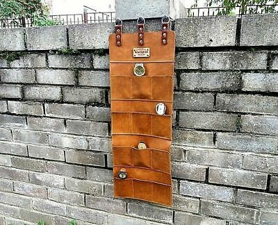 Leather wall hanging, wall organizer, wall office decor, watch wall storage