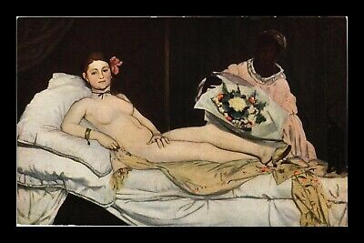 Dr Jim Stamps Olympia Painting Manet Topical France Postcard