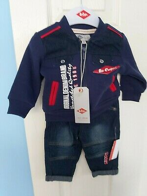 Bnwt Lee Cooper Baby Boys Jeans And Outfit Blue Top And Jeans Set Age 3 Months