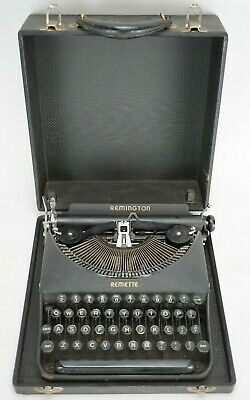 Vintage 1940 Remington Remette Portable Typewriter CR244505