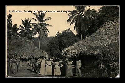 Dr Jim Stamps Mexican Family Daughters Topical View Mexico Postcard