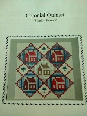 Needlepoint kit Colonial Quintet Sunday Houses Genny Morrow