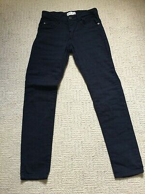Boys Zara Navy Blue Chino Trousers 8 years