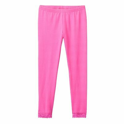 So Girls' Capri Leggings, Pink Capri Leggings with Lace Trim Size 10-12 M NWT