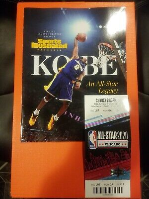 2020 NBA All-Star Game Sports Illustrated Limited Kobe Bryant +GAME TICKET STUB