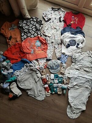 Joblot Childrens Pyjamas Vests Socks Age 12-18 18-24 2-3 Years Disney Mothercare