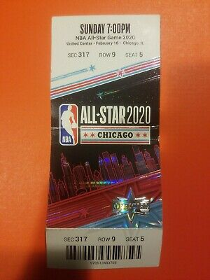 2020 NBA ALL STAR GAME TICKET STUB Chicago Kobe Tribute