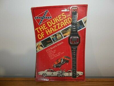 New old stock 1981 The Dukes of Hazzard LCD Quartz Watch General Lee Charger NOC