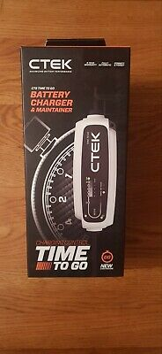 CTEK CT5 Time to Go Fully Automatic Battery Charger with a countdown display Cha