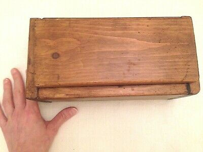 HANDMADE WOODEN BOX from reclaimed wood. Made in England with traditional tools.