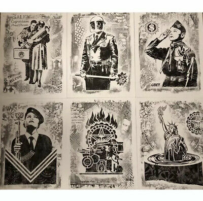 6 Prints Of obey shepard fairey Damaged Edition 6 Prints
